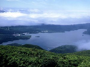 Lake Akan - The view from Mount Oakan (July 2008)