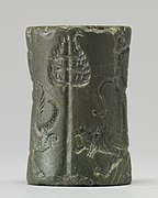 Akkadian - Cylinder Seal with King or God and Vanquished Lion - Walters 42674 - Side D.jpg