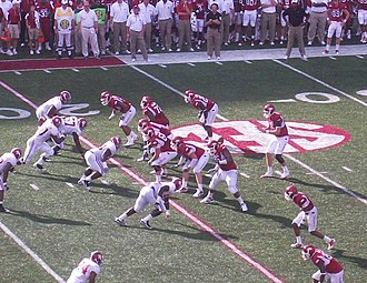 University of Arkansas - The 2010 Arkansas Razorbacks football team played against the Alabama Crimson Tide in September, 2010.