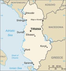 albania kart Albania – Wikipedia albania kart