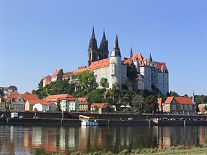 Albrechtsburg - Albrechtsburg and Meissen Cathedral on the Elbe river