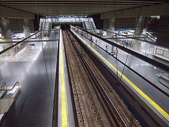 Puerta del Sur (Madrid Metro) - Image: Alcorcón Estación de Puerta del Sur