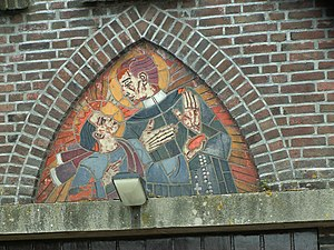 English: Mosaic of Saint Gerard Majella, above...
