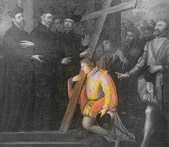 Alexander Sauli - Sauli carrying a cross through the streets of Milan.
