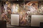 Alfons mucha, l'epoca romana e l'arrivo degli slavi, dipinto per padiglione bosnia-h. all'esp. univ. di parigi del 1900, 02.jpg