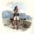 Alfred Diston, Militiaman of Grand Canary (1829).png