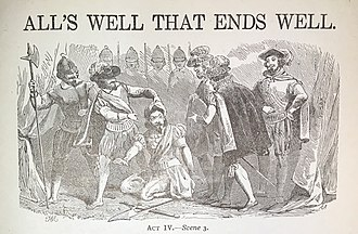 All's Well That Ends Well - A lithograph depicting Act IV Scene III.