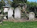 All Hallows Church Tottenham London England - churchyard chest tomb overgrown 3.jpg