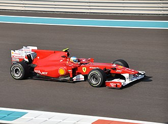 2010 Abu Dhabi Grand Prix - Fernando Alonso only required a top-two placing to win the title without having to rely on other results. He placed in the top six in each of the three free practice sessions, and qualified third for the race.