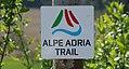 Alpen Adria Trail Beschilderung Wanderwege vom Großglockner (AT) nach Muggia (IT).jpg