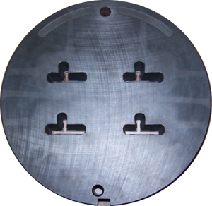 Bismuth bronze - Image: Aluminium extrusion die front