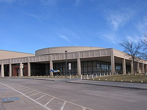 Amarillo Civic Center - In front of the Amarillo Civic Center which also contains a ballroom.