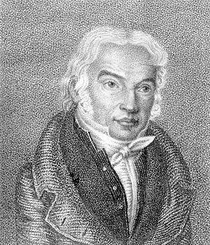 Ambrogio Minoja - Ambrogio Minoja on a stipple engraving by Luigi Rados (1773–1840).