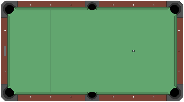 File American-style Pool Table Diagram  Empty  Png