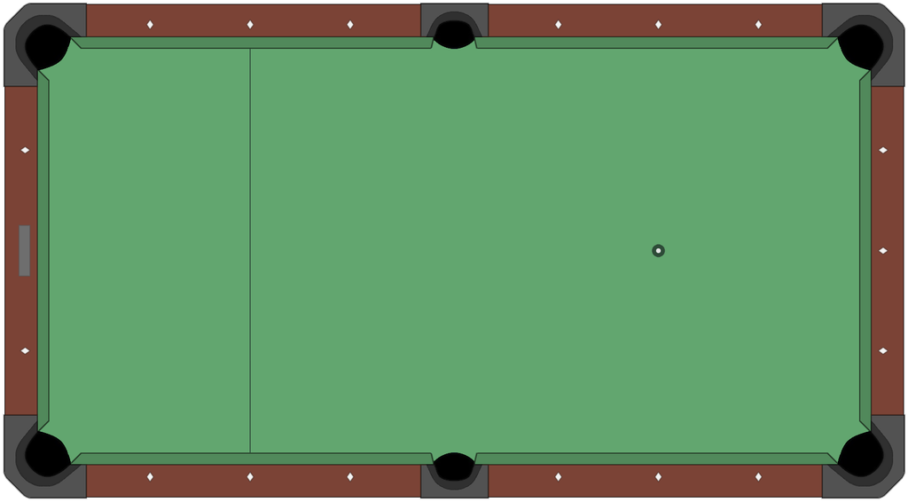 File american style pool table diagram empty png - Pool table images ...