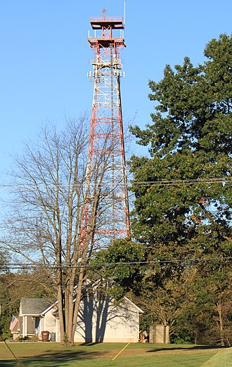 American Tower Corporation - American Tower wireless tower, Belleville, MI. (Former AT&T Long Lines tower.)