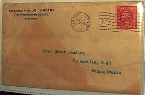 American Book Company (1890) - American Book Company, letter envelope 25 September 1916