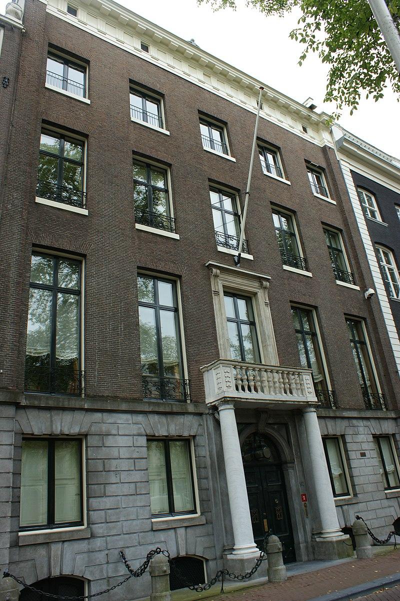 Huis met de kolommen in amsterdam monument for Herengracht amsterdam