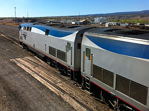 GE Genesis - Image: Amtrak California Zephyr Engines 1 and 56 Eastbound at Grand Junction img 2