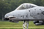 An A-10 Thunderbolt II taxis down the runway at Barksdale Air Force Base (29396075192).jpg