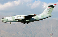 An Ilyushin Il-76TD of IRIAF landing at THR.jpg