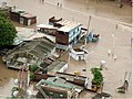 An aerial view taken from the IAF relief Helicopter of the flood-affected areas in Gujarat on July 3, 2005 (6).jpg