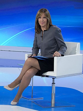 Telediario - Ana Blanco, the main female face of Telediario.