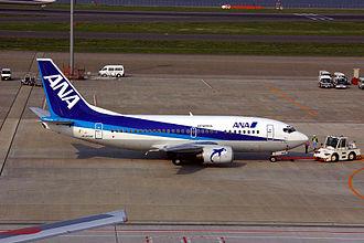 Air Nippon - Air Nippon Boeing 737-500 at Tokyo International Airport (Haneda)