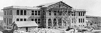 Anatolia College - Macedonia Hall under construction in 1934