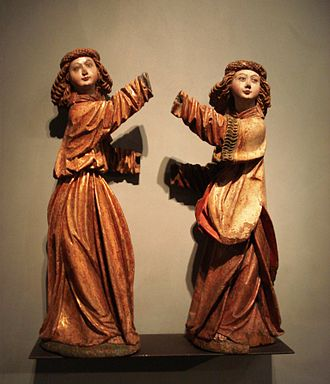 International Gothic - Two angels from Bohemia