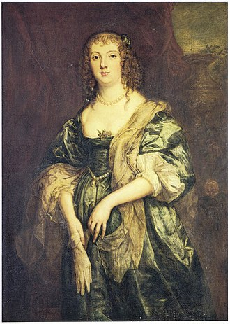 Anne Russell, Countess of Bedford - Portrait of Anne Carr, Countess of Bedford by Anthony van Dyck, c. 1638