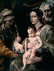 La Sainte Famille avec saint Jean-Baptiste et sainte Élisabeth