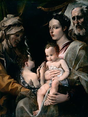 The Holy Family with Saint Elizabeth and Saint John