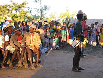 Malagasy people - Antandroy performing a traditional dance
