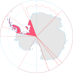 Location of British Antarctic Territory