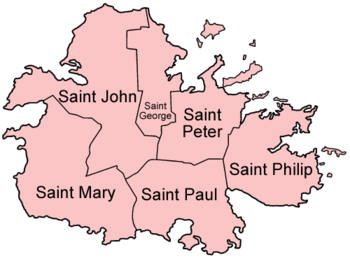 Parishes van Antigua