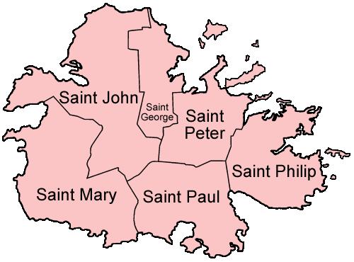 Antigua parishes english