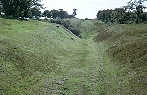 Rough Castle Fort - Image: Antonine Wall near Rough Castle Fort