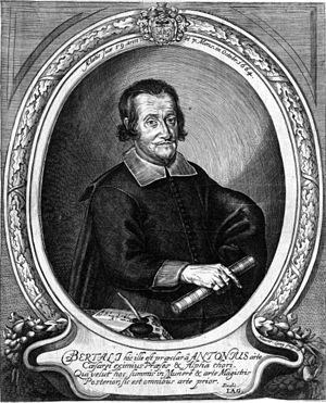 Antonio Bertali - Engraved portrait of Antonio Bertali at the age of 59 in 1664.