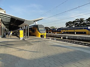 Apeldoorn railway station - NS doubledecker trains at the railway station in 2016