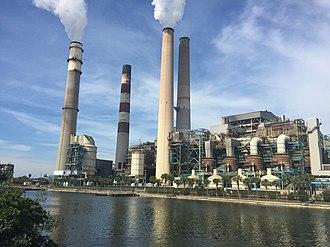Apollo Beach, Florida - View of a Tampa Electric plant from Apollo Beach