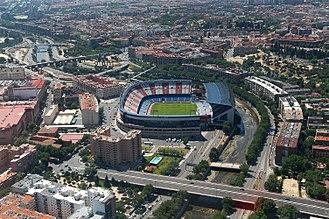 Vicente Calderón Stadium - Image: Aprobado el nuevo ámbito Mahou Calderón (01)