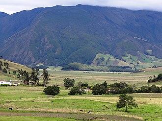 Altiplano Cundiboyacense - Typical landscape of the Altiplano, near Arcabuco, Boyacá