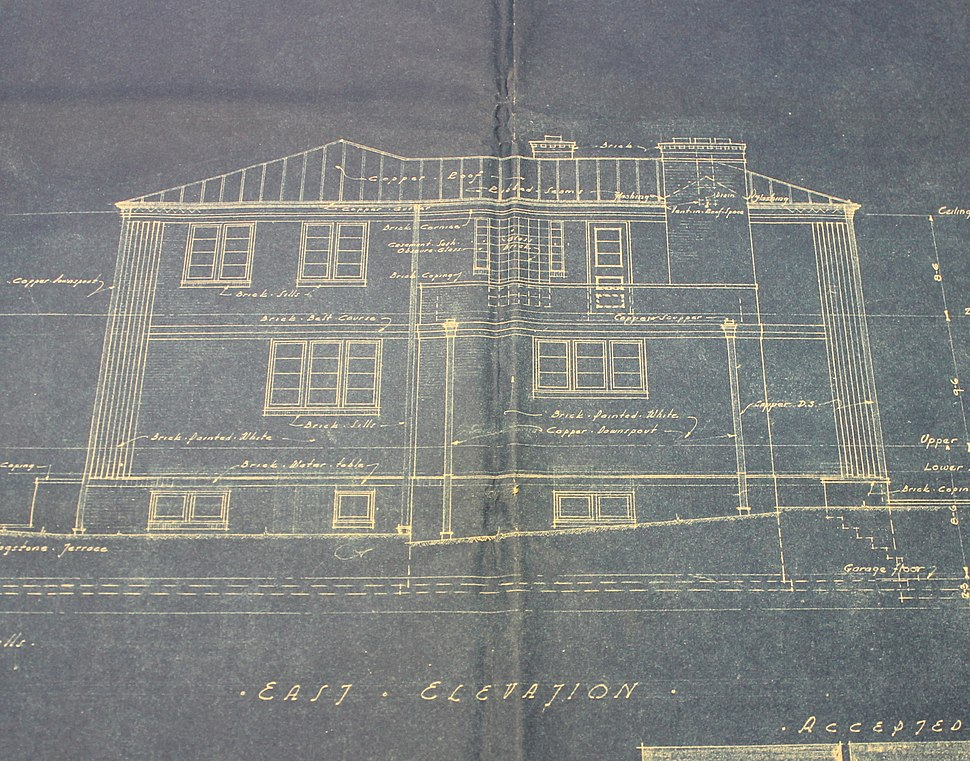 """Architectural Drawing of """"The House of Tomorrow"""""""