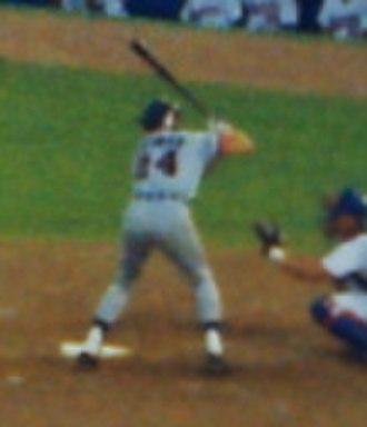 Travis Fryman - Fryman at bat for the Detroit Tigers in 1992
