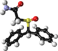 Armodafinil ball-and-stick xtal 2013.png