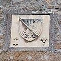 Armoiries de Bertrand du Guesclin sur le logis de Tiphaine Raguenel (Le Mont-Saint-Michel, Manche, France).jpg