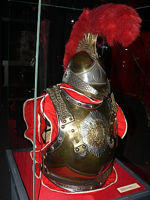 Carabinier - Cuirass and helmet of the French Horse Carabinier, during the Bourbon Restoration (1816-1824).