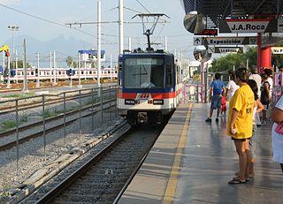 Light rail transit railway in Monterrey, Mexico