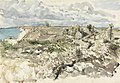 Arsuf- An Observation Post - a Roman ruin on the sea coast Art.IWMART1597.jpg